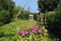 Blick in den großen Garten des Käptn's Hus